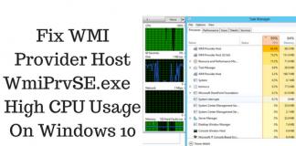 high CPU windows 10 fix