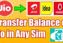 Transfer Jio Data Balance To Other Sim